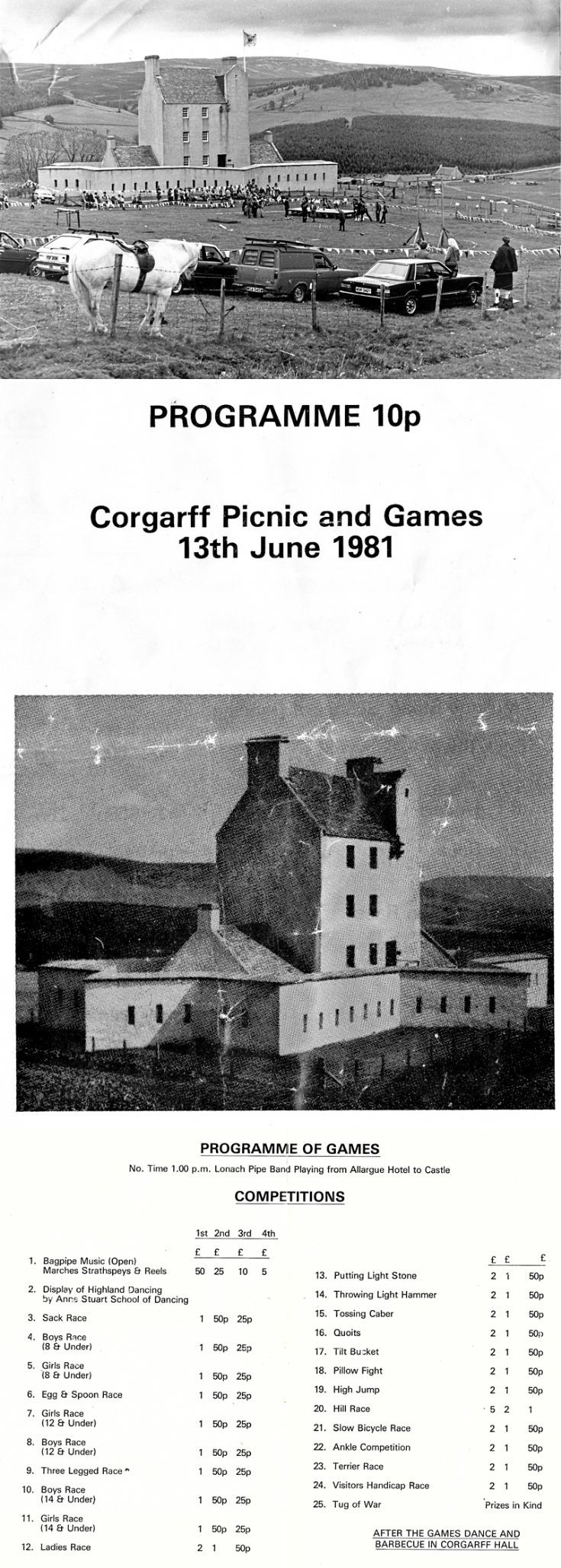 196 Corgarff Games 1981