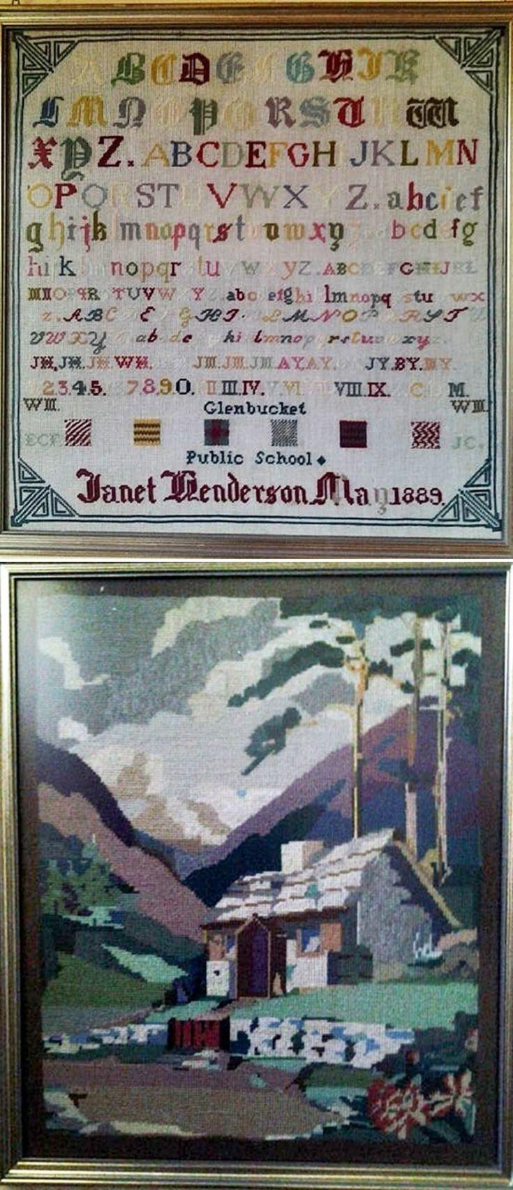 2 Henderson Sampler and Tapestry & Family History