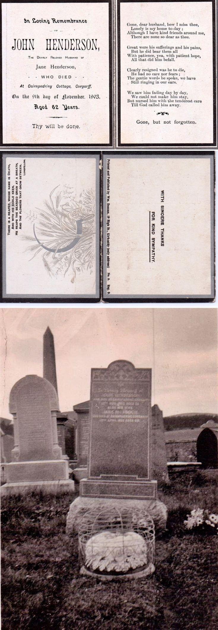 8  John Henderson Funeral Card