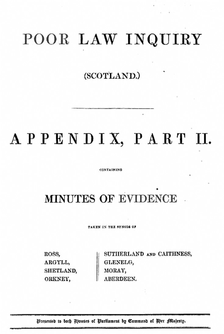 127 Poor Law Enquiry Glenbuchat 1844