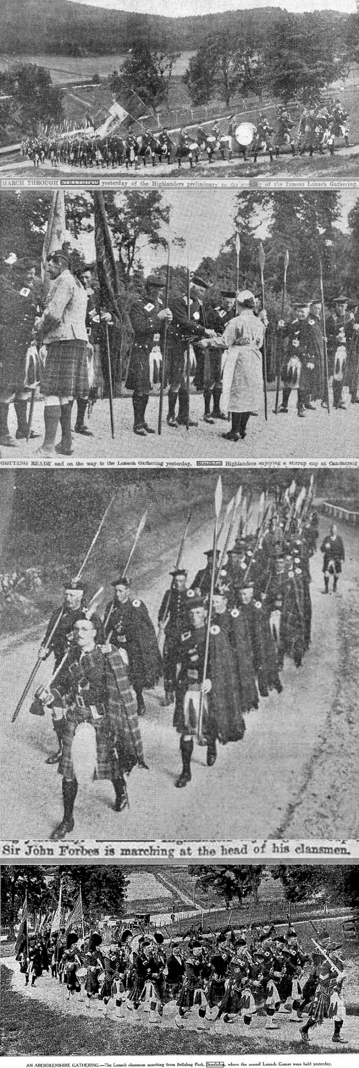 23 Lonach Marchers 1930 - 1934