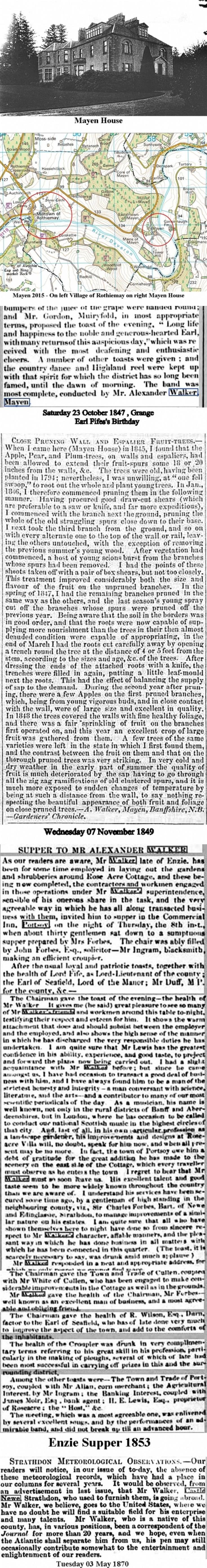 4 Alexander Walker's move to Mayen House