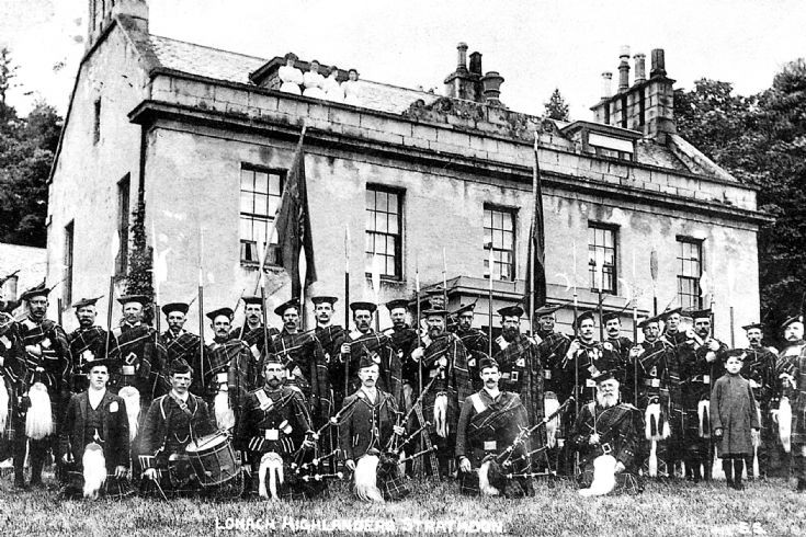 120 Lonach Men at Inverernan House c1900