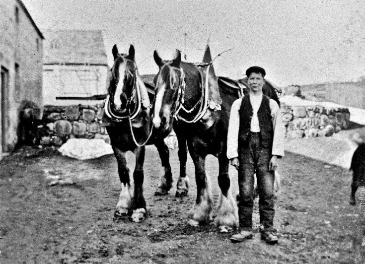 152 Man and two horses Glenbuchat