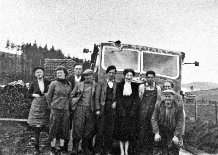 5 Timber lorry and workers  in Glenbuchat