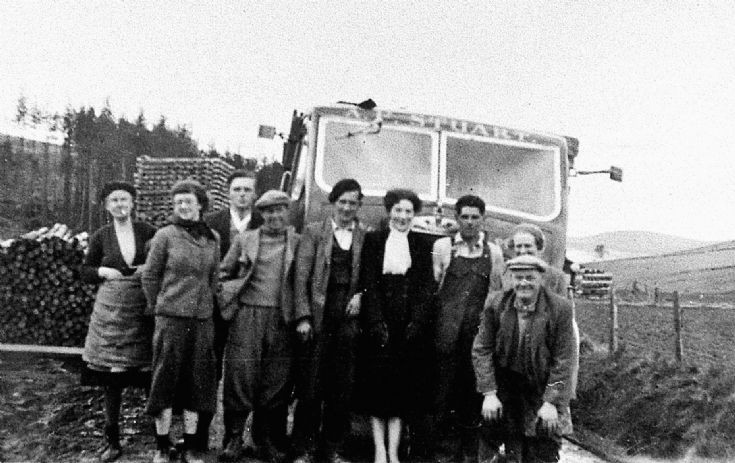 60 Group with Timber Lorry Glenbuchat