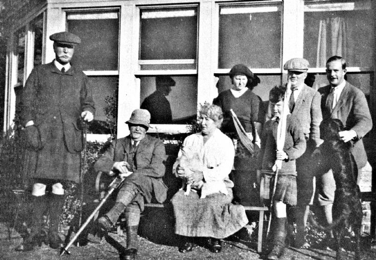 75 Barclay-Milne family at Logie House, Pitcaple