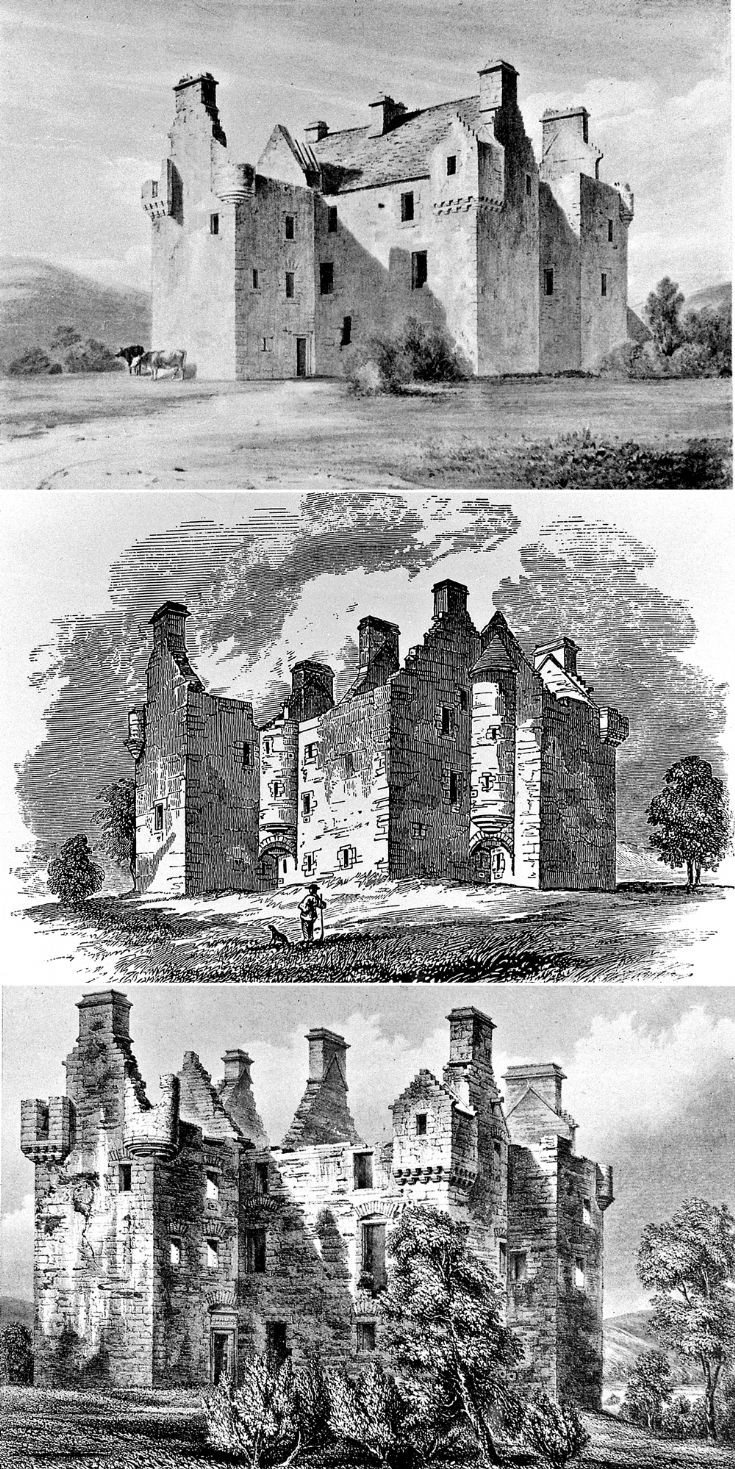 86 Glenbuchat Castle sketches