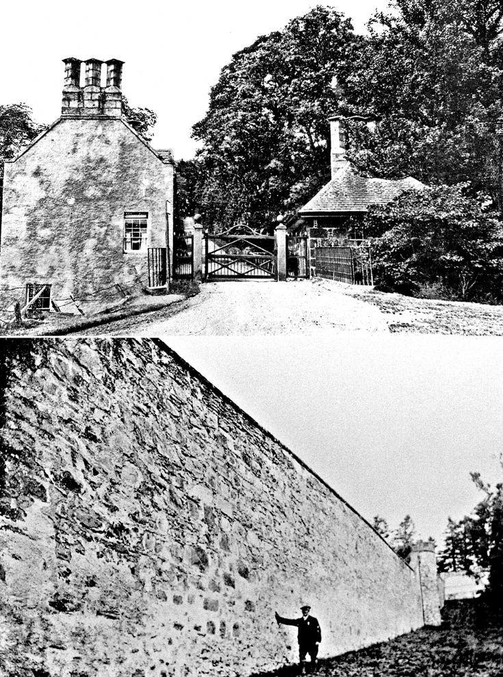 97 Auchernach House Gates and Garden wall