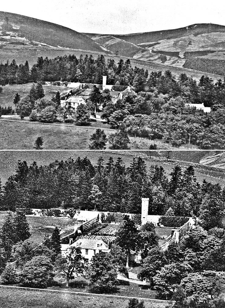 98 Auchernach House and Garden. Aerial view