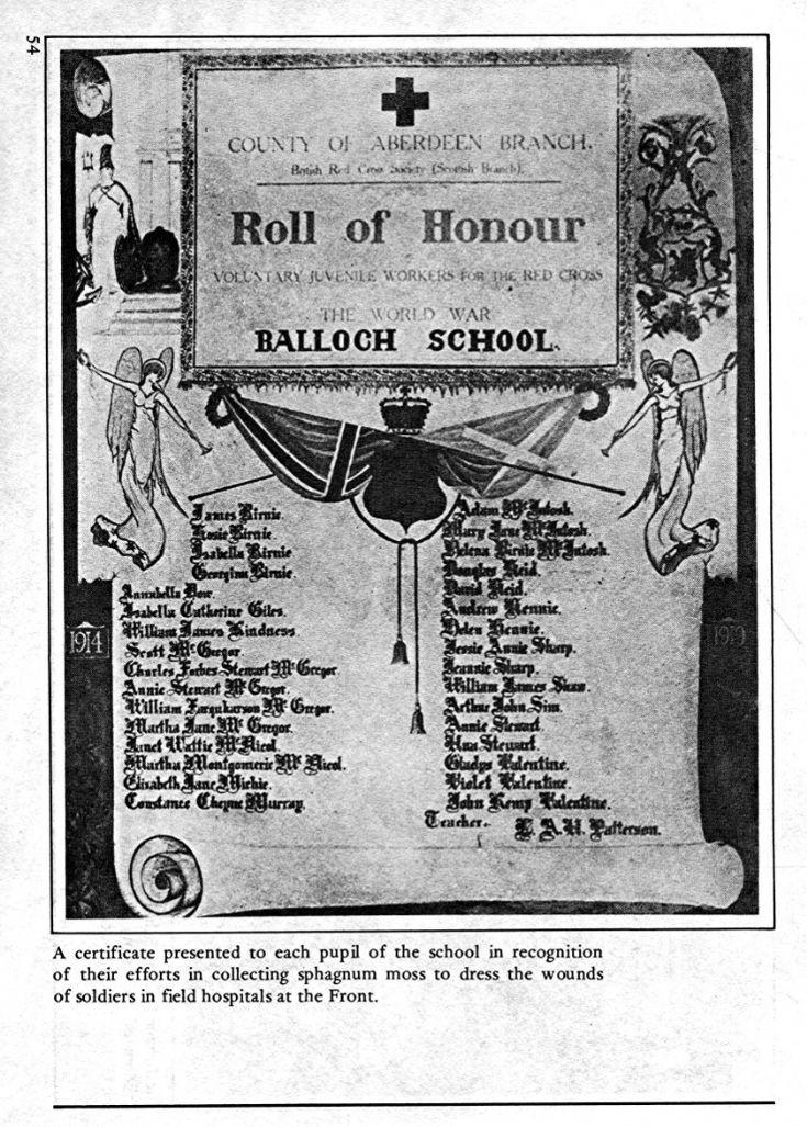 54 Balloch School Roll of Honour