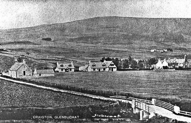 114 Craigton Glenbuchat post Card