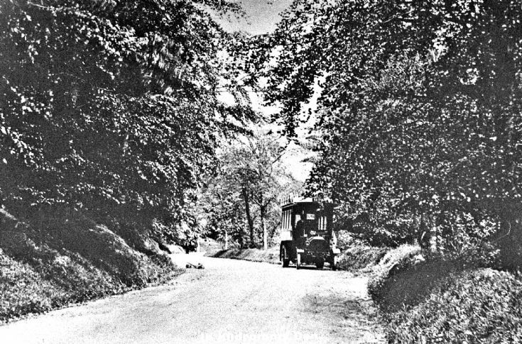202 Bus at Den of Kildrummy c 1920