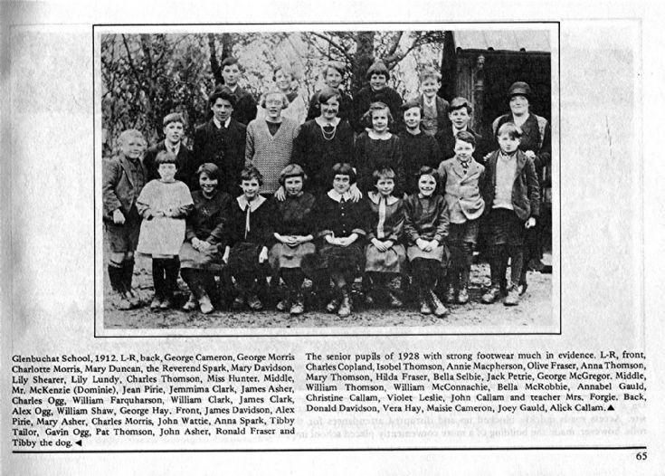 65 Glenbuchat School 1925
