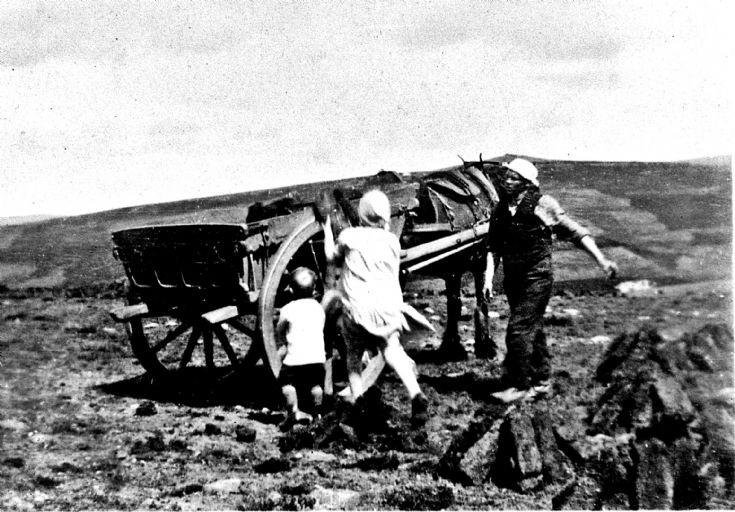 244 Family Collecting Peat Glenbuchat c 1930