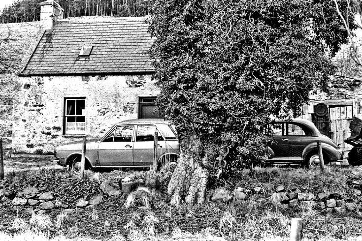 7 Old Cars at Glenbuchat Mill