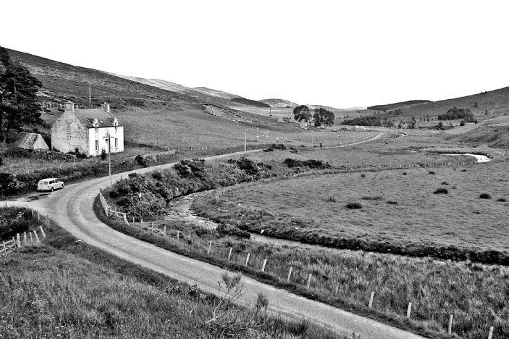 43 Dulax Cottage and upper Glenbuchat c 1980