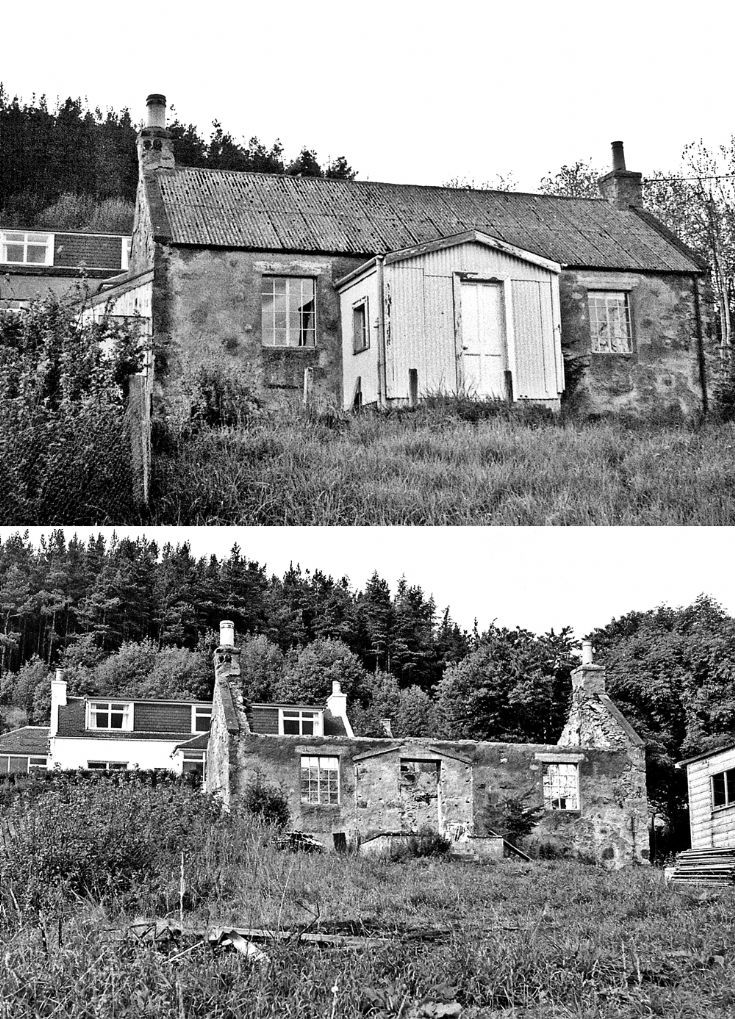 53 Weavers Cottage Belnacraig reconscruction c1980