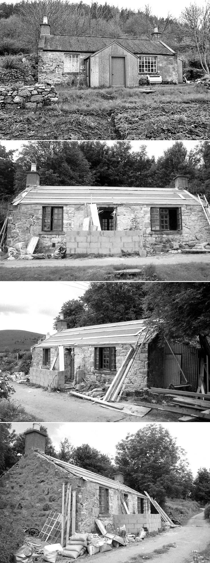 77 Rose Cottage Belnacraig reconstruction c 1980