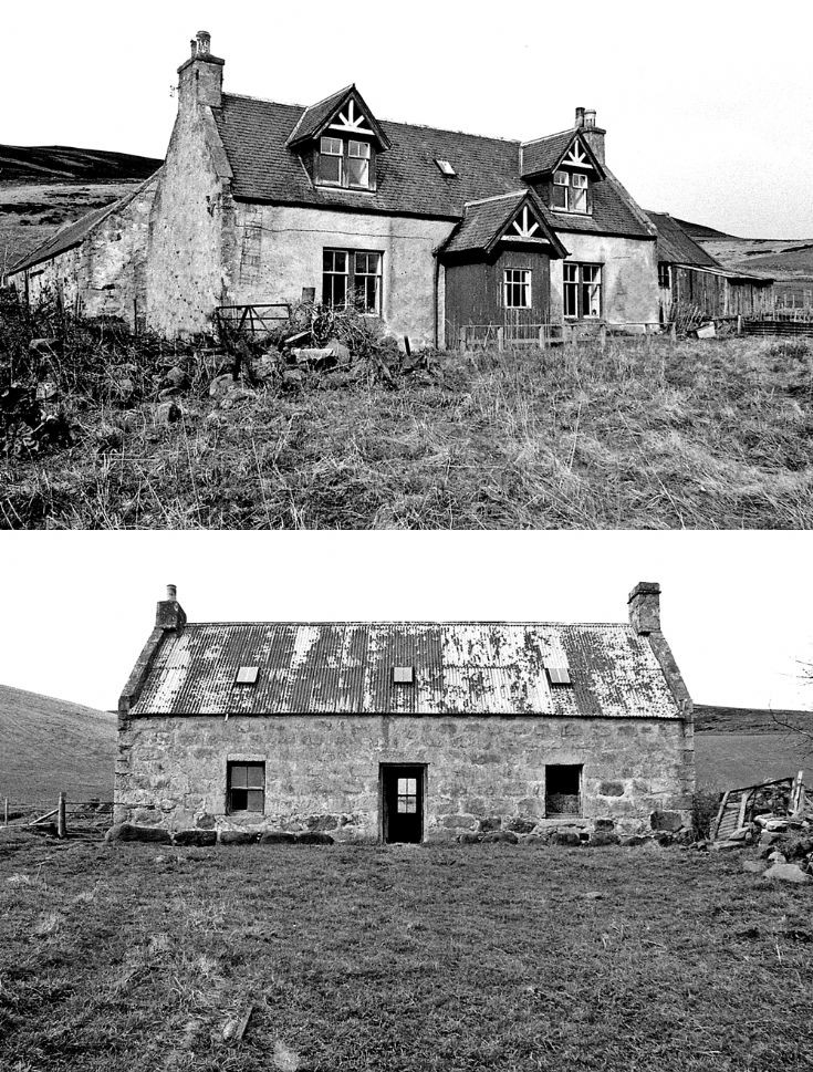 81 Belnaglack Farm House and cottage c 1980