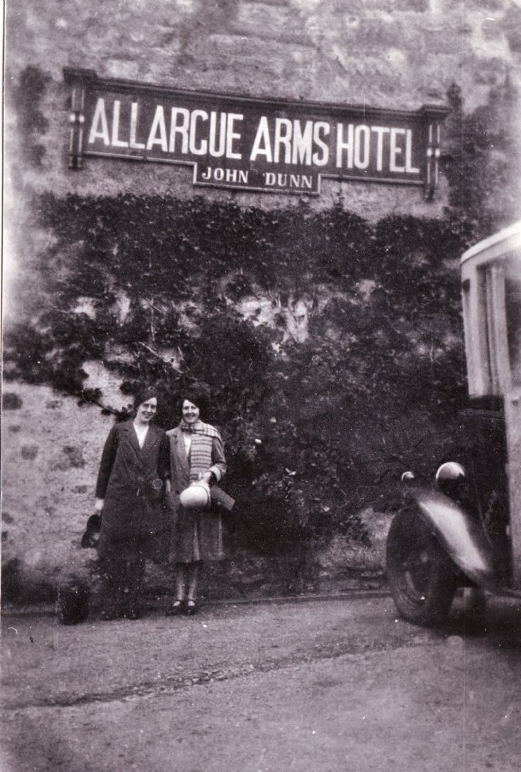 37  Couple at Allargue Arms hotel c 1920's