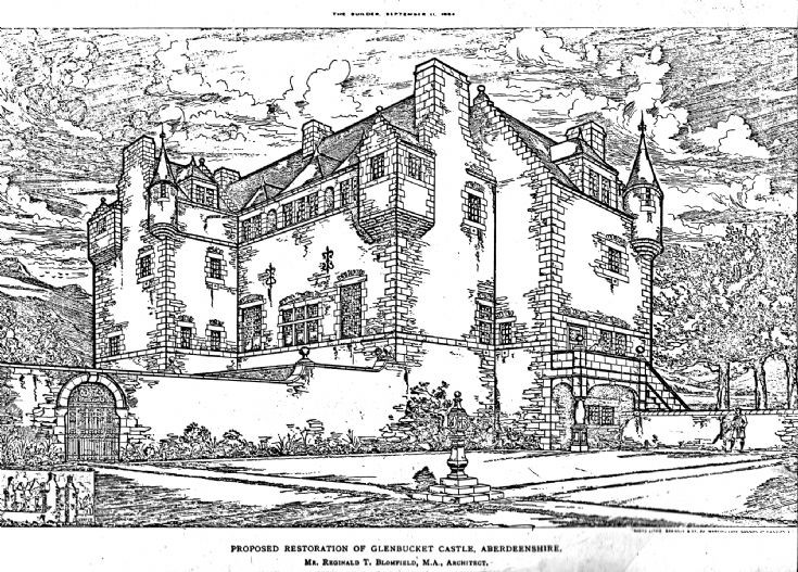 38 Proposed Glenbuchat  Castle Restoration 1886