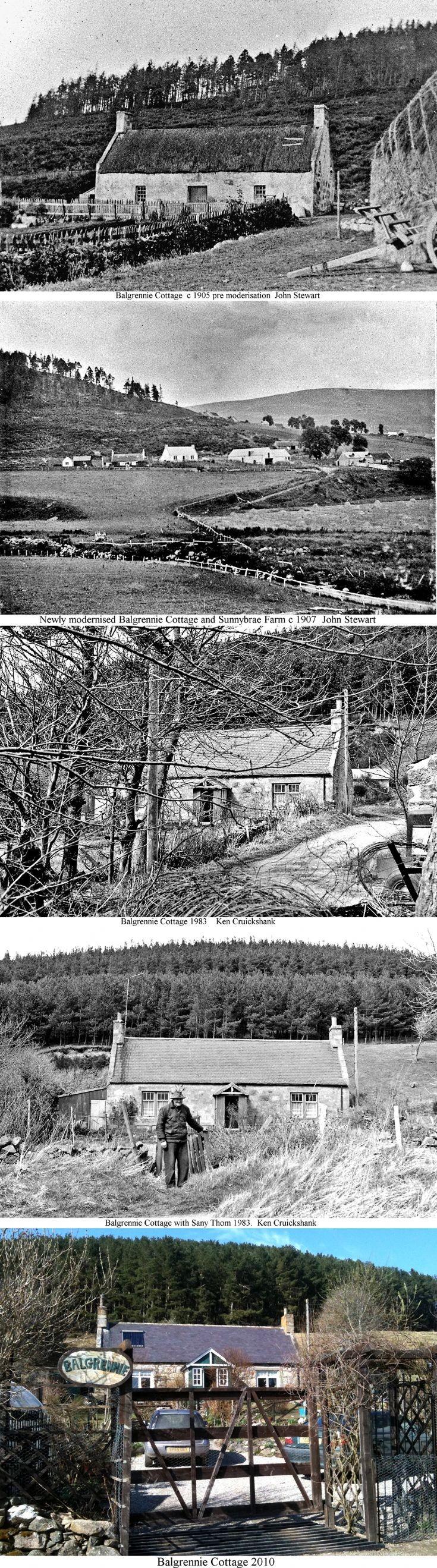 40 Balgrennie Cottage Glenbuchat changes with time