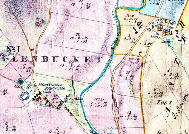 19 Sect 8b Castle and Easterbucket 1864 Map