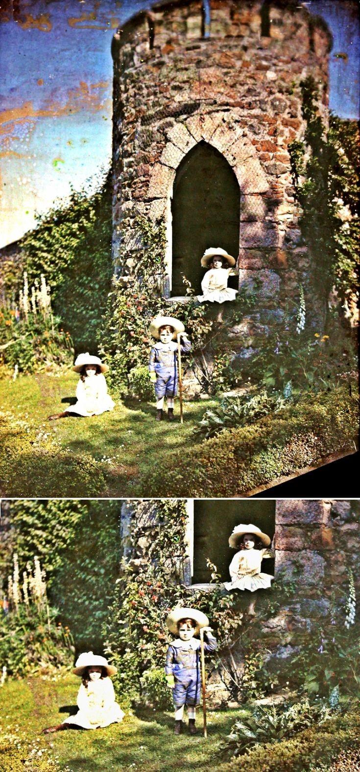 17 Frobes Children in Castle Newe Garden c 1910