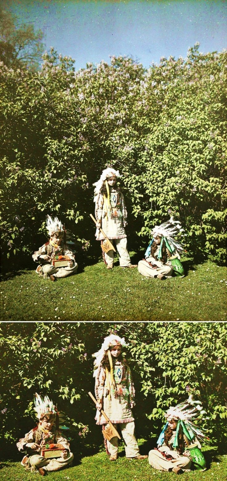 22 Castle Newe 'Red Indians' 3 c 1910