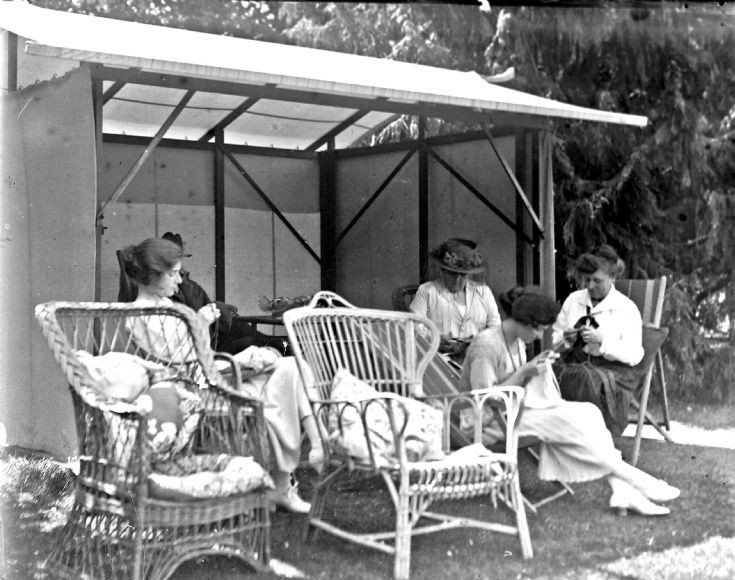 46 Family in garden at Castle Newe c 1910