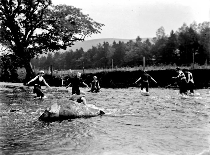 57 Swimming in the Don at Castle Newe
