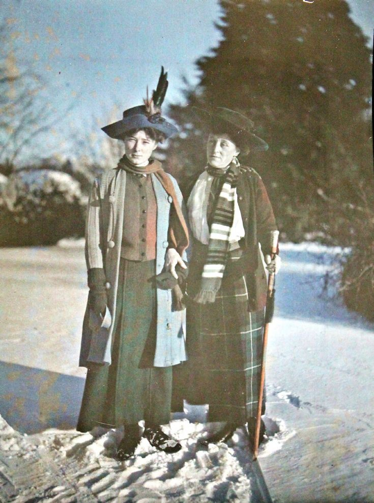 67 Lady Forbes and ? Daughter Castle Newe c 1910