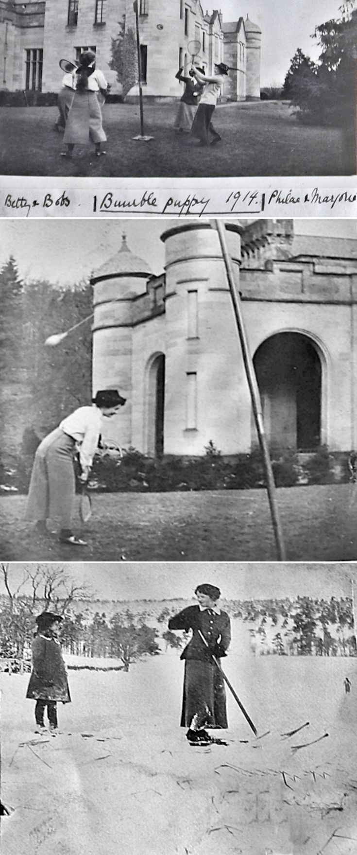 9 Activities at Castle newe c 1910