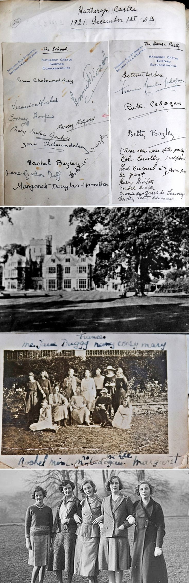 17 Bettine at School at Hatherop Castle 1921