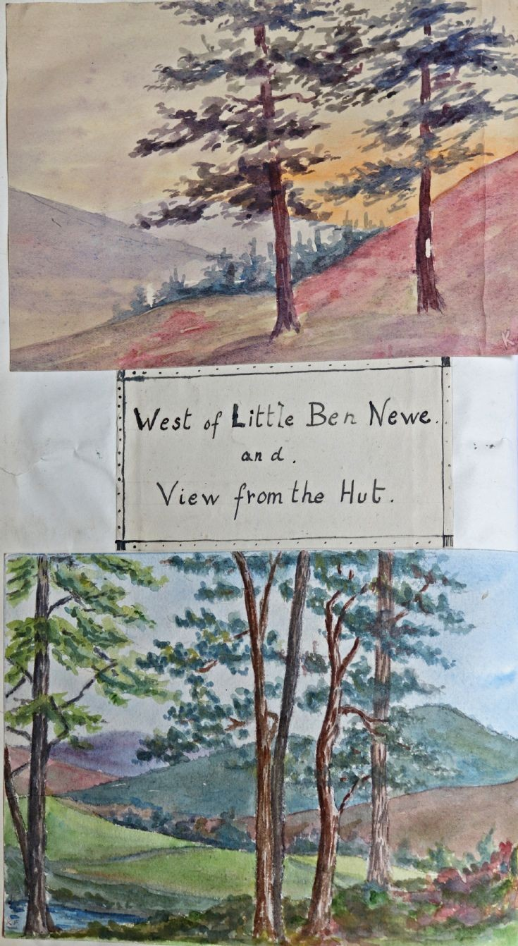 19 Bettine's painting of scenes at Castle Newe