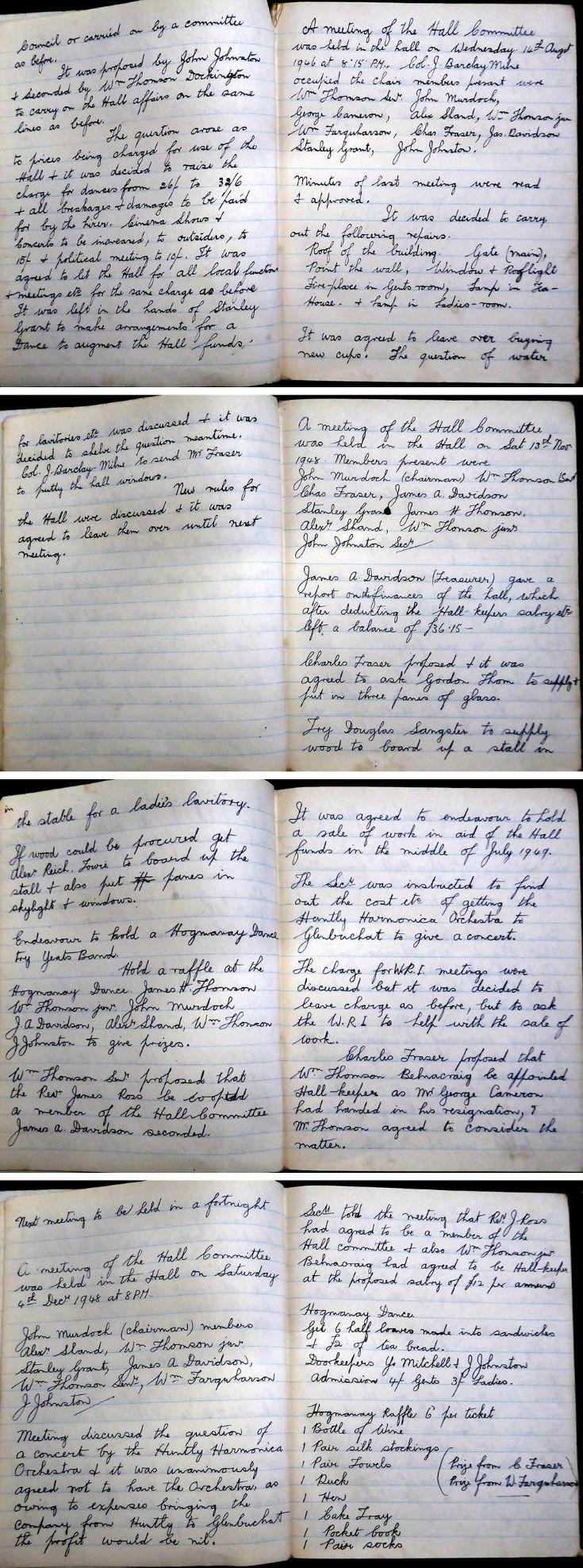 38 Glenbuchat Hall Committee Minutes