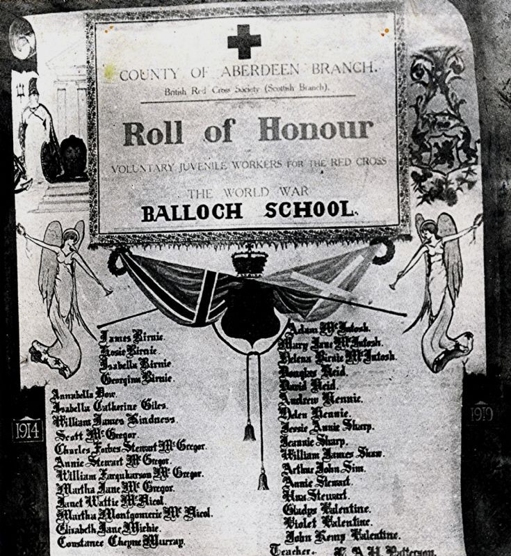 34 Balloch School Red Cross Roll of Honour