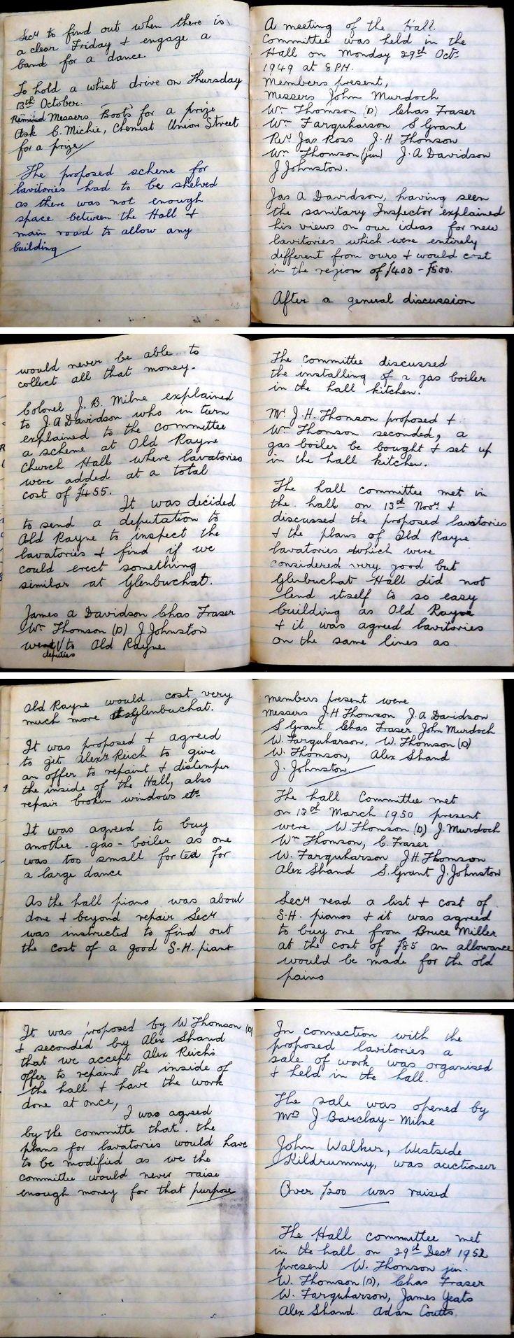 41 Glenbuchat Hall Committee Minutes