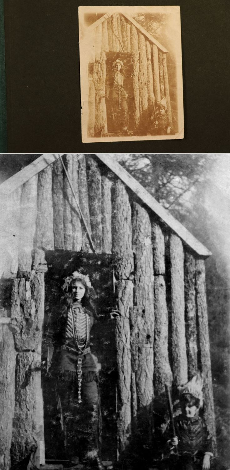 15 Newe Castle Hut and 'Red Indian' 1922