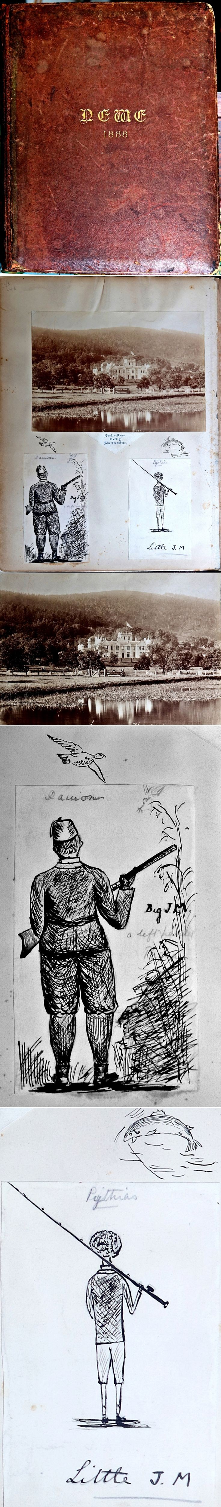 18 Castle Newe Visitirs Book from 1888