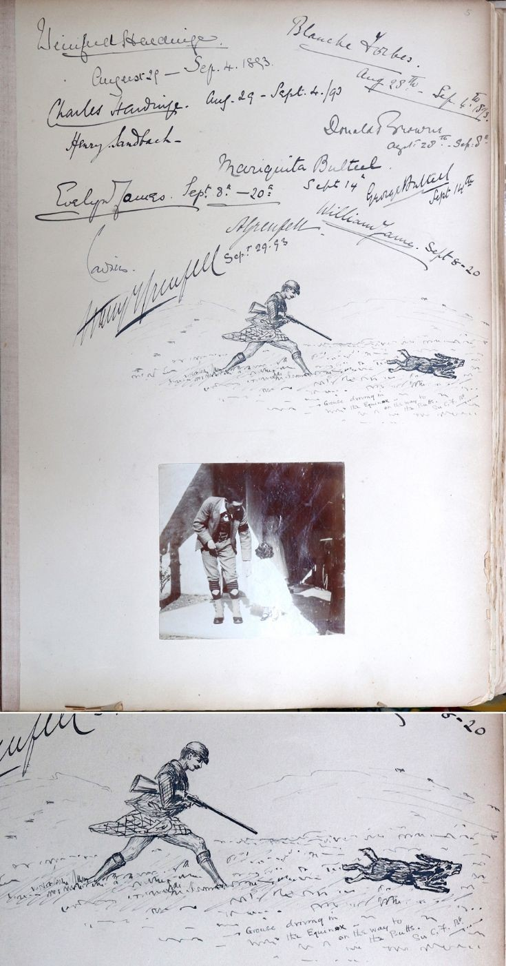 25 Castle Newe Visitors Book 1893