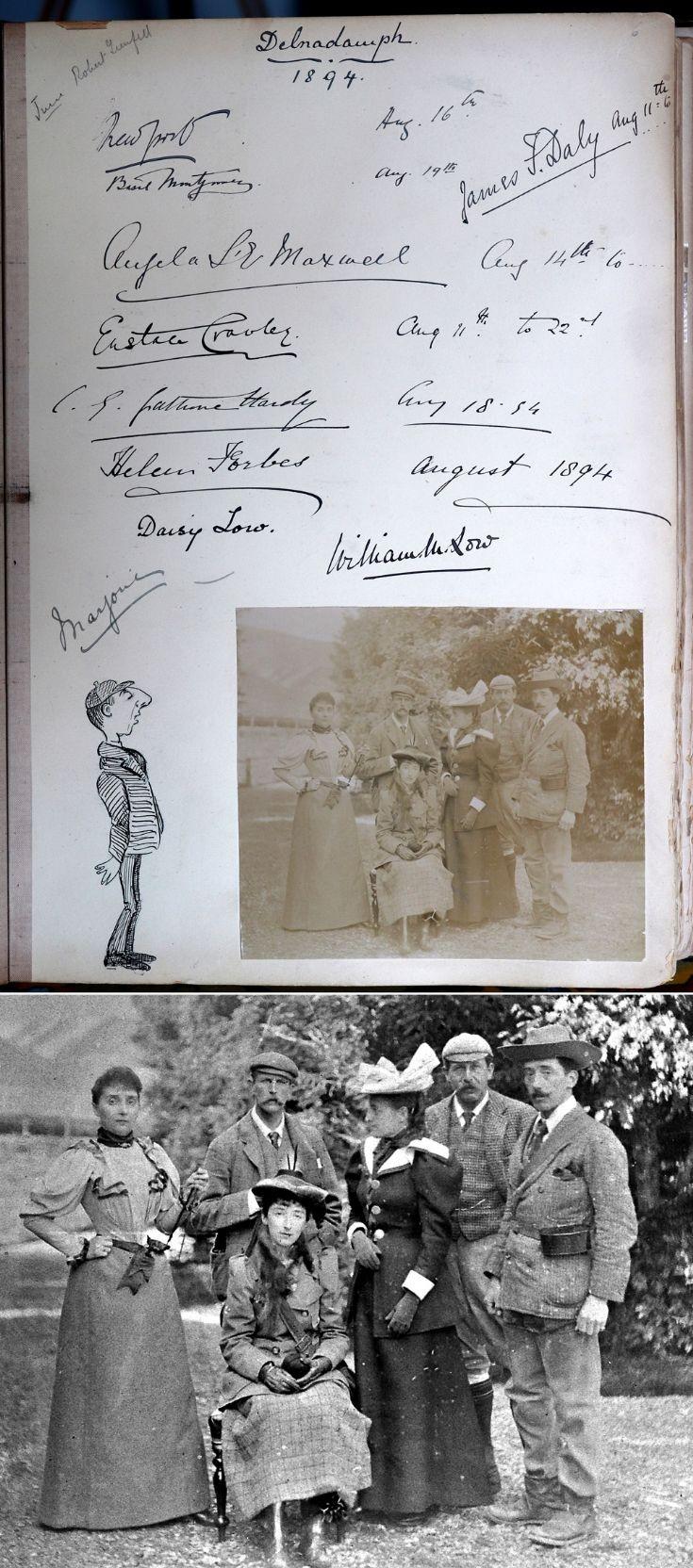 27 Castle Newe Visitors Book 1894