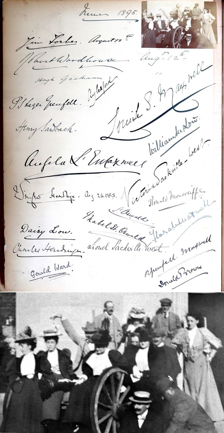 28 Castle Newe Visitors Book 1895