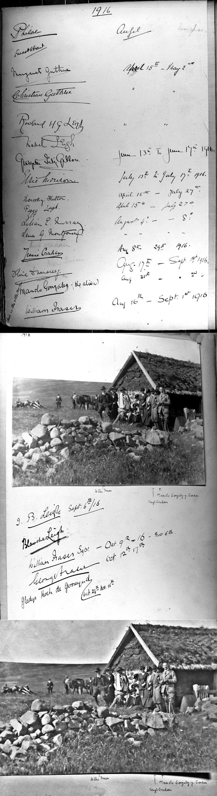 42 Castle Newe Visitors Book 1916