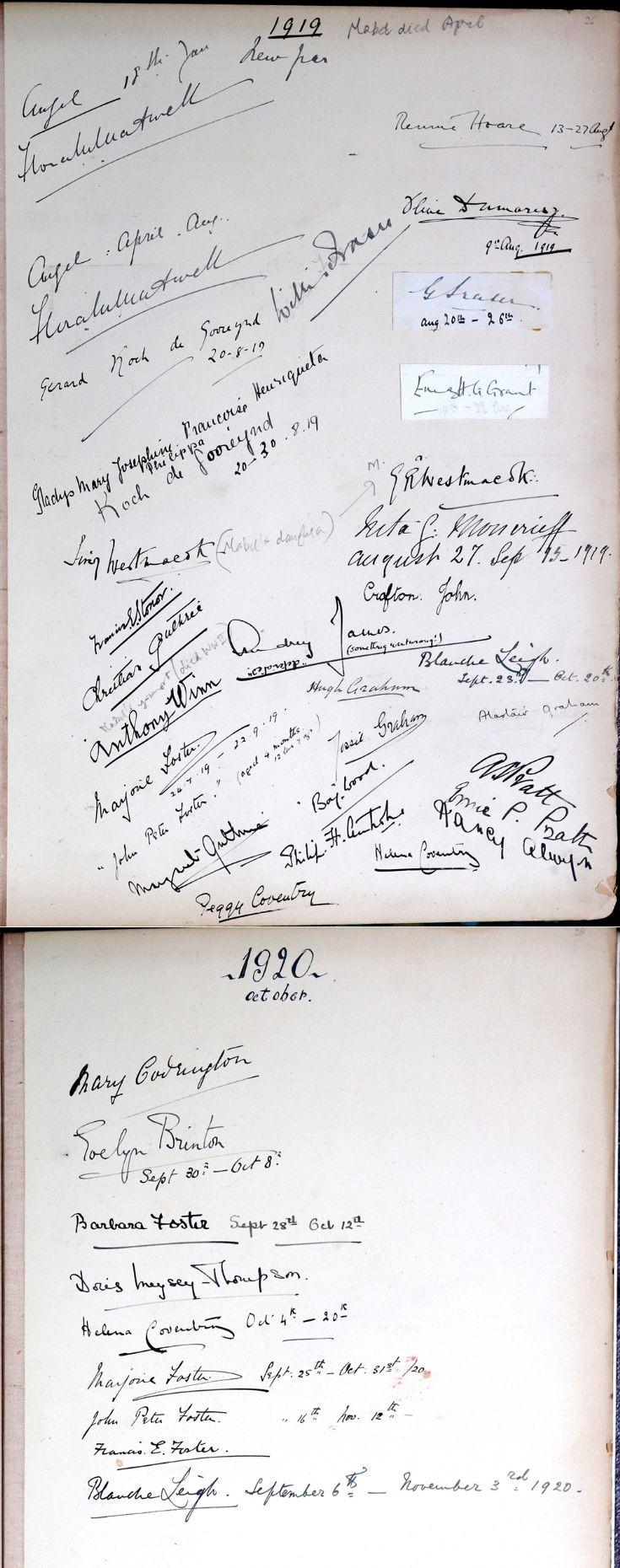 44 Castle Newe Viitors Book 1919 1820