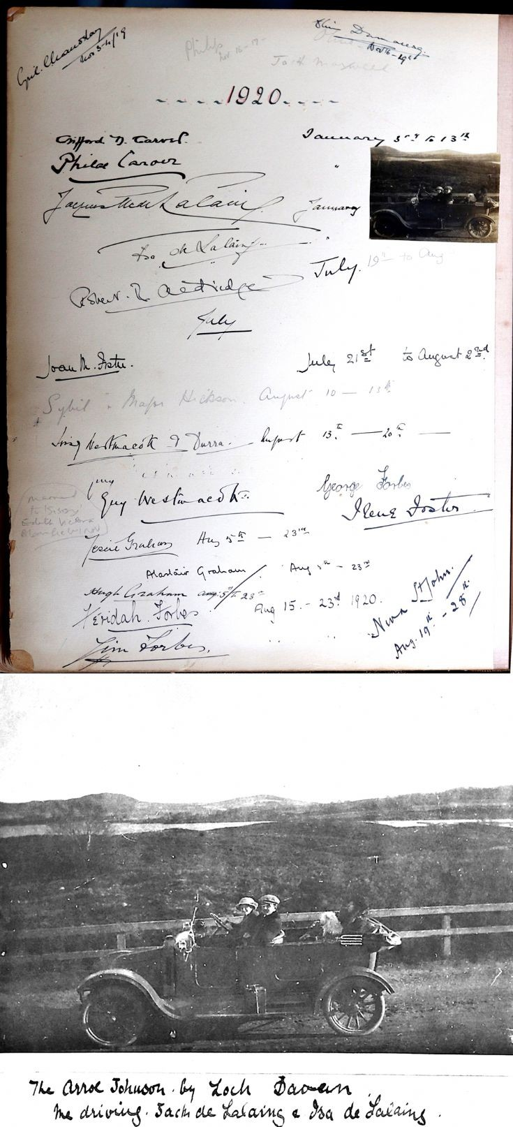 45 Castle Newe Visitors Book 1920