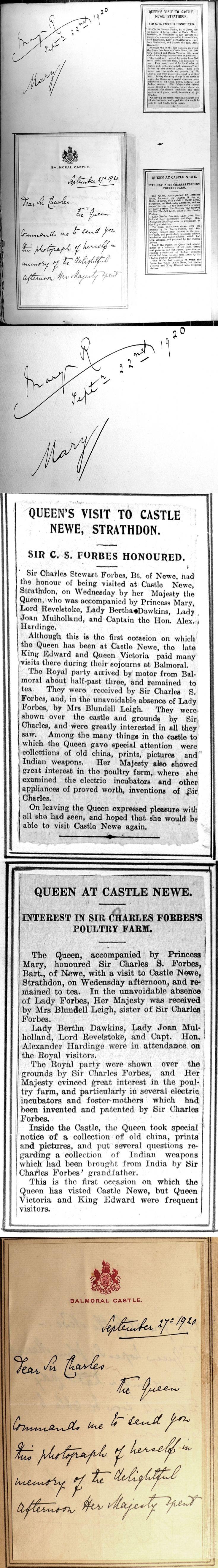 46 Castle Newe Visitors Book 1920