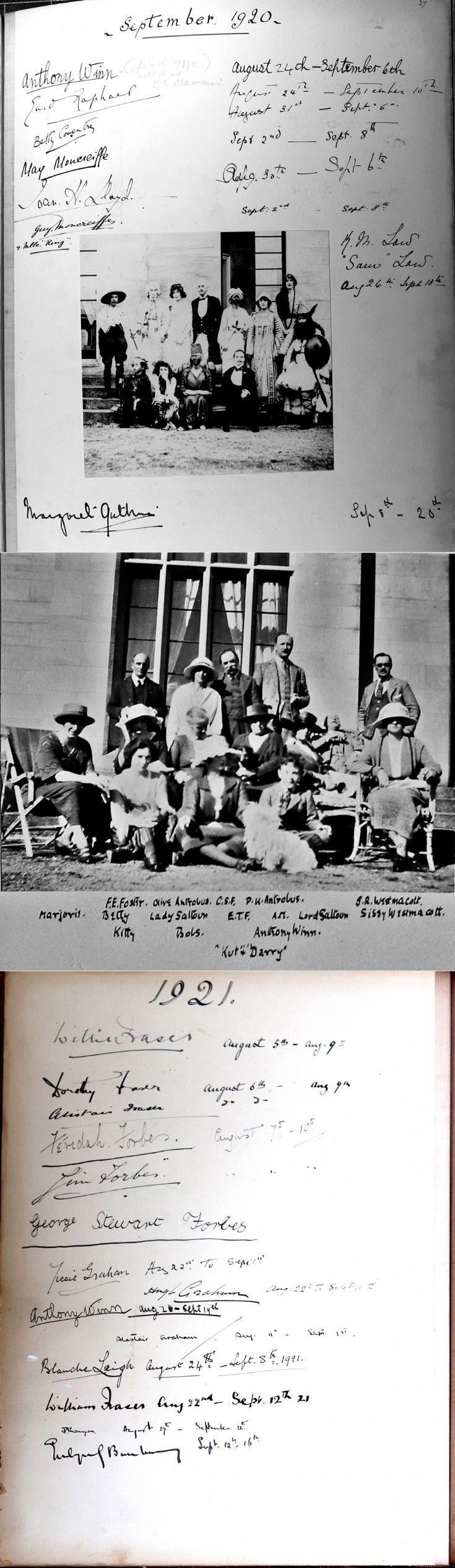 47 Castle Newe Visitors Book 1920