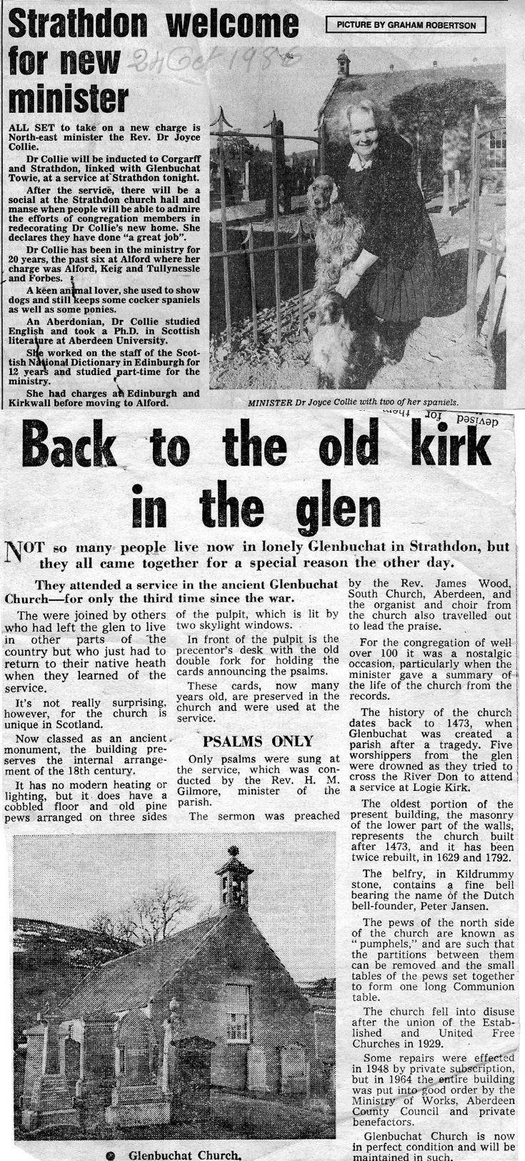 54 Glenbuchat Newspaper Cuttings